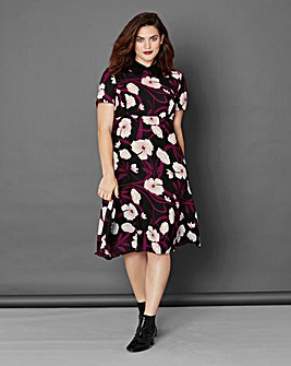Simply Be Oriental Print Tea Dress