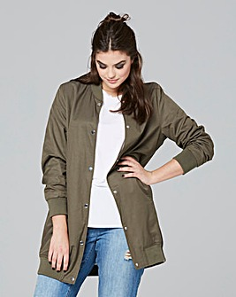 Simply Be Longline Bomber Jacket