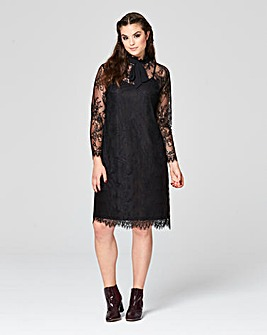 Simply Be Pussybow Lace Dress