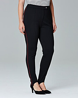 Simply Be Piped Stirrup Trousers