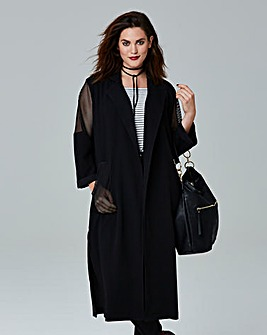 Simply Be Mesh Panel Duster Jacket