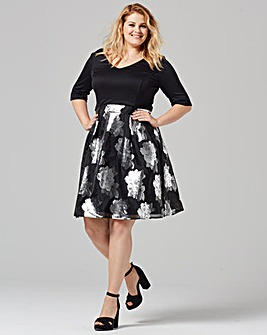 Grazia Floral Skirt Prom Dress