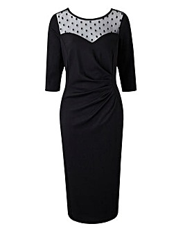 Scarlett & Jo Bodycon High Neck Dress
