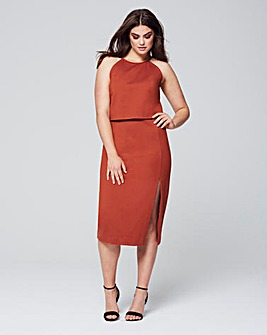 Lavish Alice High Neck Midi Dress