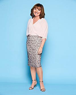 Lorraine Kelly Chiffon Blouson Dress