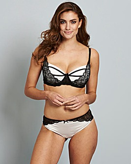 Kara Satin & Lace Padded Balcony Bra