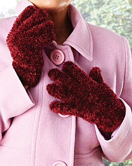 Fluffy Gloves Pack of 2