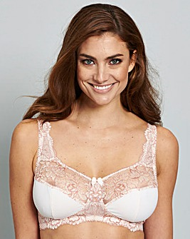 Blush/White Two Pack Ella Non Wired Bras