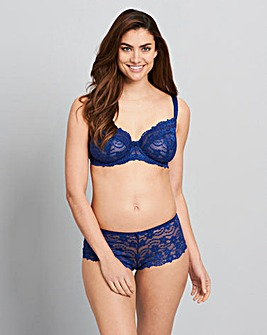 Daisy Lace Full Cup Navy Bra