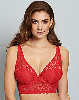 Lottie Lace Midi Bralette Red