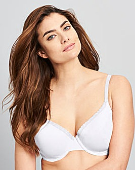 2 Pack Wired T-Shirt Bras Wht/Wht