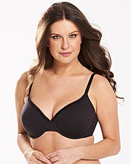 2 Pack Basic TShirt Wired Nat/Black Bras