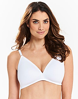 2 Pack Everyday Non Wired White Bras
