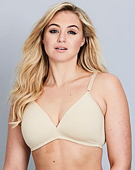 2Pk Non Wired Natural/Black Bras