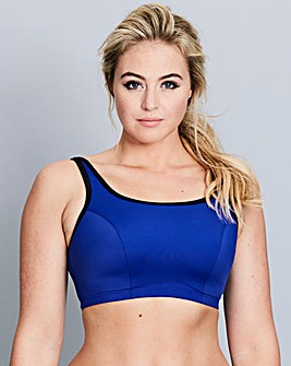 Non Wired Blue/Black Sports Bra