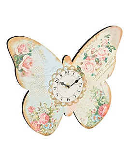 Chintz Butterfly Clock
