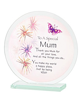 You Are Special Glass Plaque