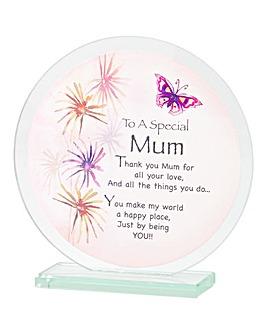 You Are Special Glass Plaque