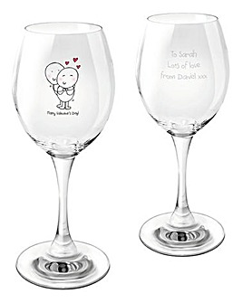 Chilli & Bubbles Personalised Wine Glass