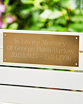 Personalised Bench Plaque