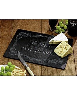To Brie Or Not Glass Cheese Board
