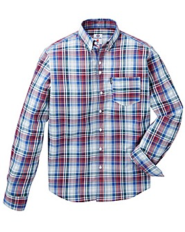 LAMBRETTA PLAID CHECK SHIRT L