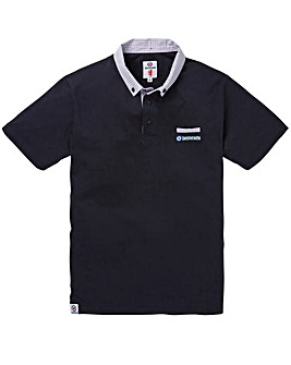 LAMBRETTA PRINTED COLLAR POLO SHIRT L