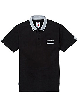 Lambretta Chambray Collar Polo Shirt L
