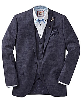 JB MELANGE CHECK SUIT JACKET LONG