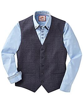 JB Melange Check Suit Waistcoat Long