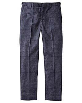 JB Melange Check Suit Trouser Long