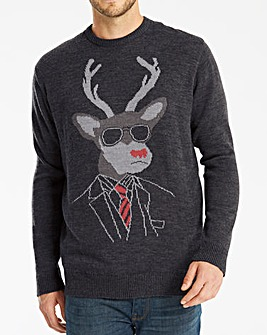 Joe Browns Stag Christmas Jumper