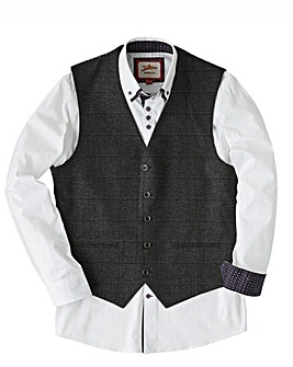 Joe Browns Check Suit Waistcoat Short
