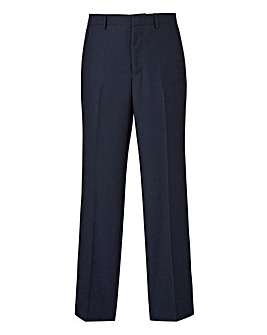 Burton Navy Pindot Suit Trousers 30In