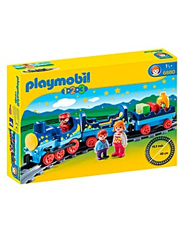 Playmobil 1.2.3. Night Train with Track