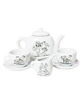Trolls Paint Your Own Tea Set