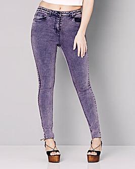 Simply Be Rosie Acid Wash Skinny Jeans