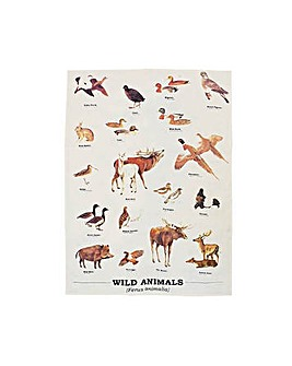 Wild Animals Tea Towel