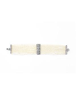 Espree Crystal and Pearl Strand Bracelet