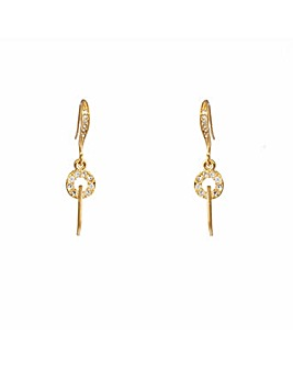 Espree Gold Plated Crystal Drop Earrings