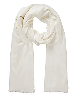 Joanna Hope Pearl Embellished Stole