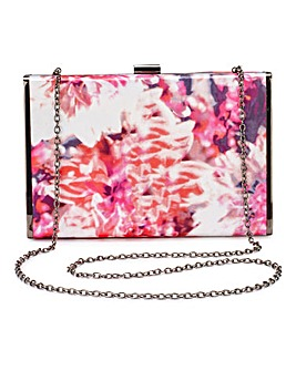Joanna Hope Satin Print Clutch