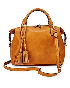 Tan Slouch Bowler Bag