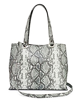 Snake Shopper with Shoulder Strap