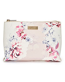 Lipsy Nude Floral Make Up Bag