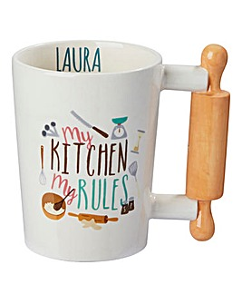 Personalised Kitchen Rules Mug