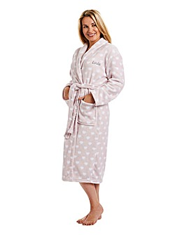 Personalised Ladies Microplush Bathrobe