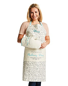 Personalised Baking Day Apron and Oven M