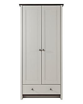 Salcombe 2 Door 1 Drawer Wardrobe