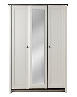 Salcombe 3 Door Mirrored Wardrobe